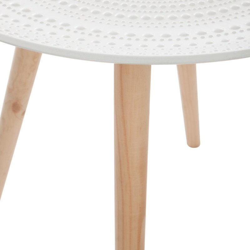 Table D Appoint Scandinave Mileo 49cm Blanc
