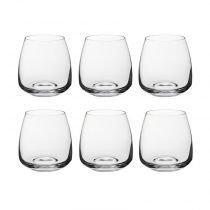 "Lot de 6 Gobelets en Verre ""Andelle"" 40cl Transparent"