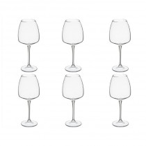 "Lot de 6 Verres à Vin ""Andelle"" 44cl Transparent"