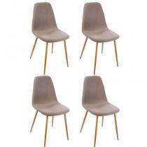 "Lot de 4 Chaises Design ""Taho"" 87cm Taupe"
