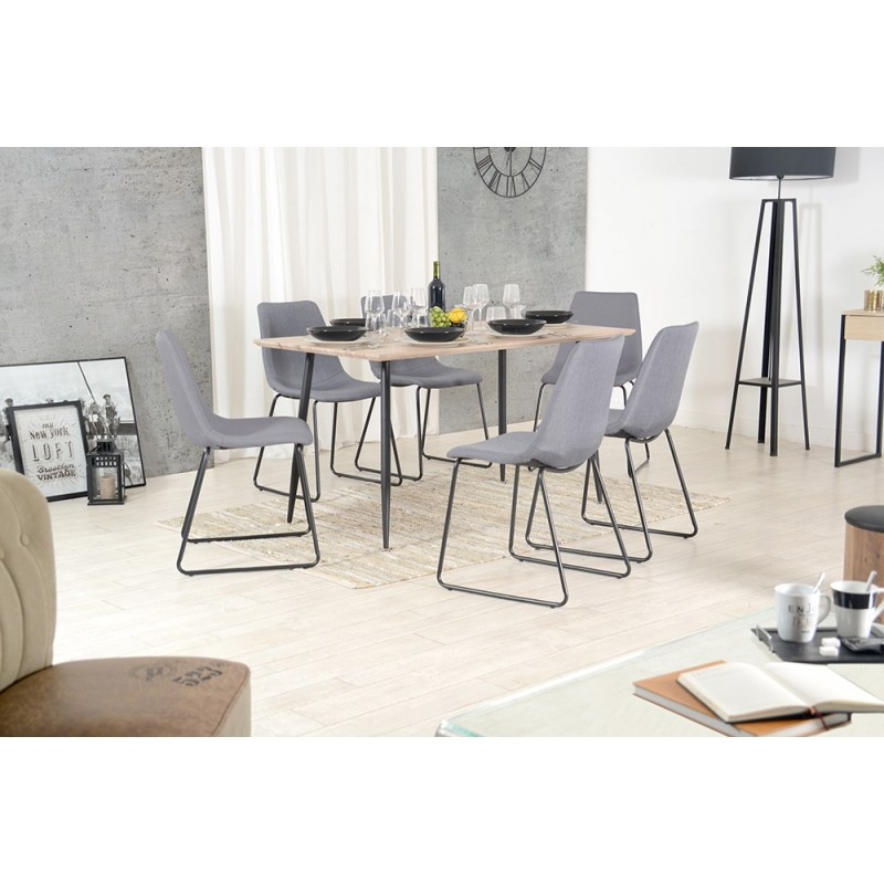 table de s jour en ch ne griff 140cm marron. Black Bedroom Furniture Sets. Home Design Ideas