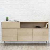 "Buffet 3 Portes Design ""Épure"" 180cm Naturel"