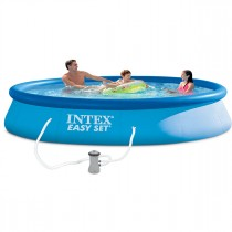 "Kit Piscine Autoportante ""Easy Set"" 396x84cm Bleu"