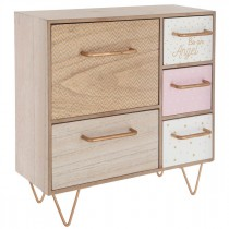 "Meuble Design 5 Tiroirs ""Angel"" 32cm Naturel"