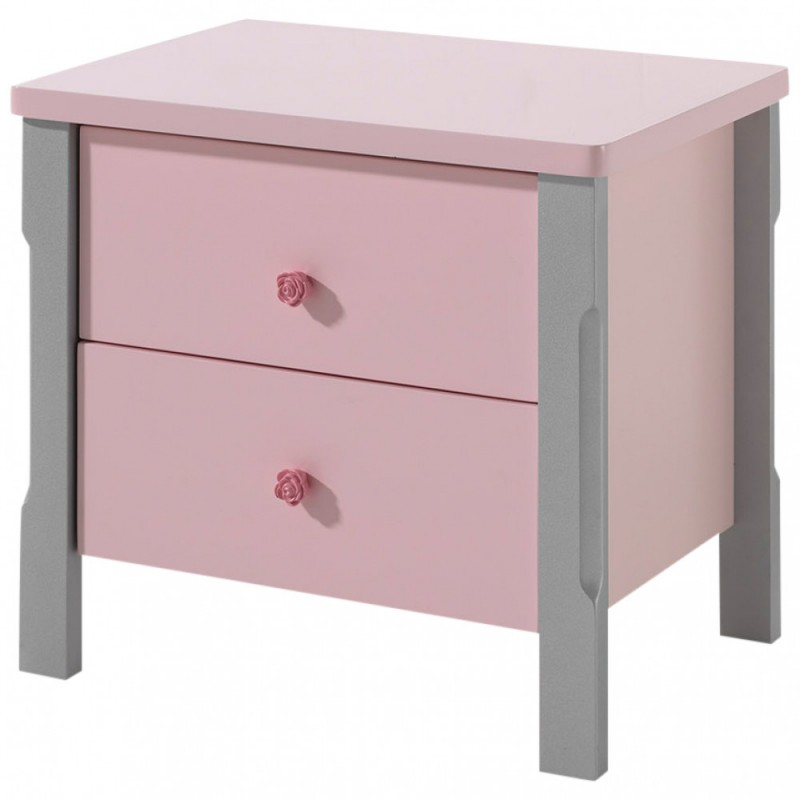 table de chevet enfant cindy 56cm rose. Black Bedroom Furniture Sets. Home Design Ideas