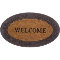 "Paillasson en Coco ""Welcome"" 75cm Marron"