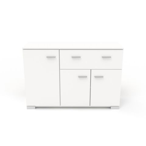buffet enfilade 3 portes max 120cm blanc. Black Bedroom Furniture Sets. Home Design Ideas