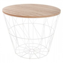 "Table d'Appoint Design ""Kumi"" 30cm Blanc"