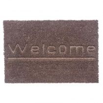 "Paillasson Rectangulaire ""Welcome"" 60cm Marron"