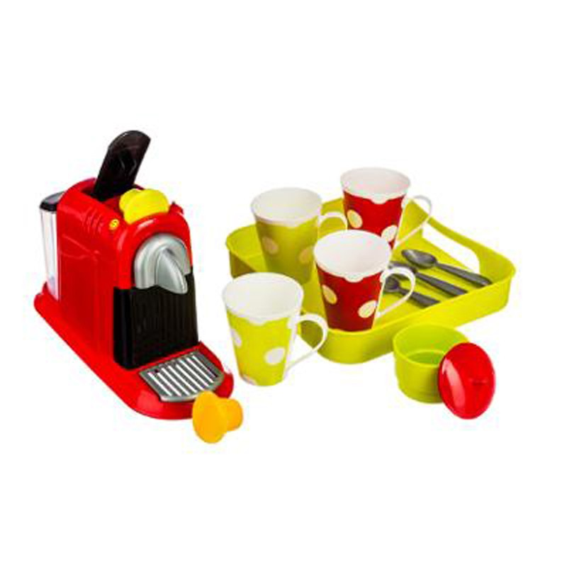 Dinette enfant machine espresso 16 pi ces multicolore - Machine a cafe enfant ...
