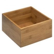 "Organiseur Tiroir Carré ""Wood"" 18cm Naturel"
