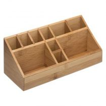 "Organiseur Tiroir 10 Compartiments ""Wood"" 23cm Naturel"