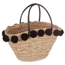 "Panier Shopping en Osier ""Nomade"" 56cm Naturel"