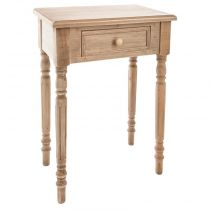 "Table de Chevet 1 Tiroir en Bois ""Tasha"" 65cm Naturel"