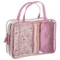 "Set de 4 Trousses de Toilette ""Pink Liberty"" 27cm Rose"