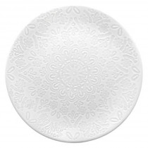 "Lot de 6 Assiettes Plates ""Hacienda"" 27cm Blanc"