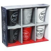 "Coffret 6 Tasses ""Bistrot"" 11cl Multicolore"