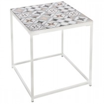 """Table d'Appoint """"Factory"""" 40cm Blanc"""