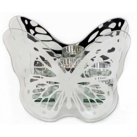 Bougeoir Papillon 20cm