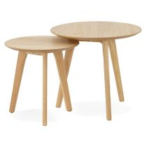"Set de 2 Tables d'Appoint ""Rauma"" Naturel"