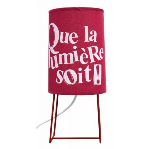 Lampe Message Rouge 32cm