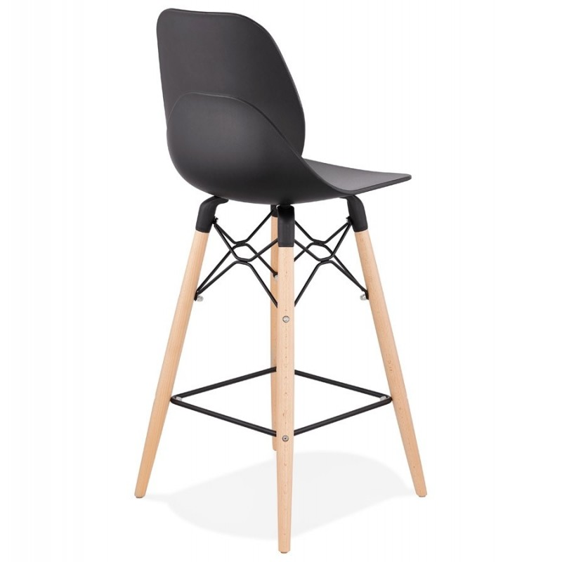 tabouret de bar scandinave astral 105cm noir. Black Bedroom Furniture Sets. Home Design Ideas