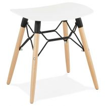 "Tabouret Scandinave ""Syrus"" 47cm Blanc"