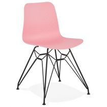 "Chaise Design ""Spider"" 83cm Rose & Noir"