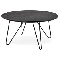 "Table Basse Design ""Winy"" 80cm Noir"