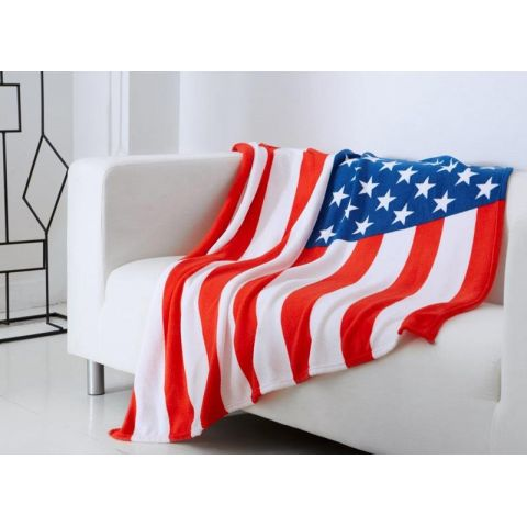 Plaid US FLAG 125x150cm