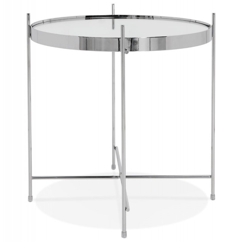 Table d 39 appoint ronde pliable minois 45cm argent - Table d appoint malm ...