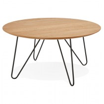 "Table Basse Design ""Winy"" 80cm Naturel"