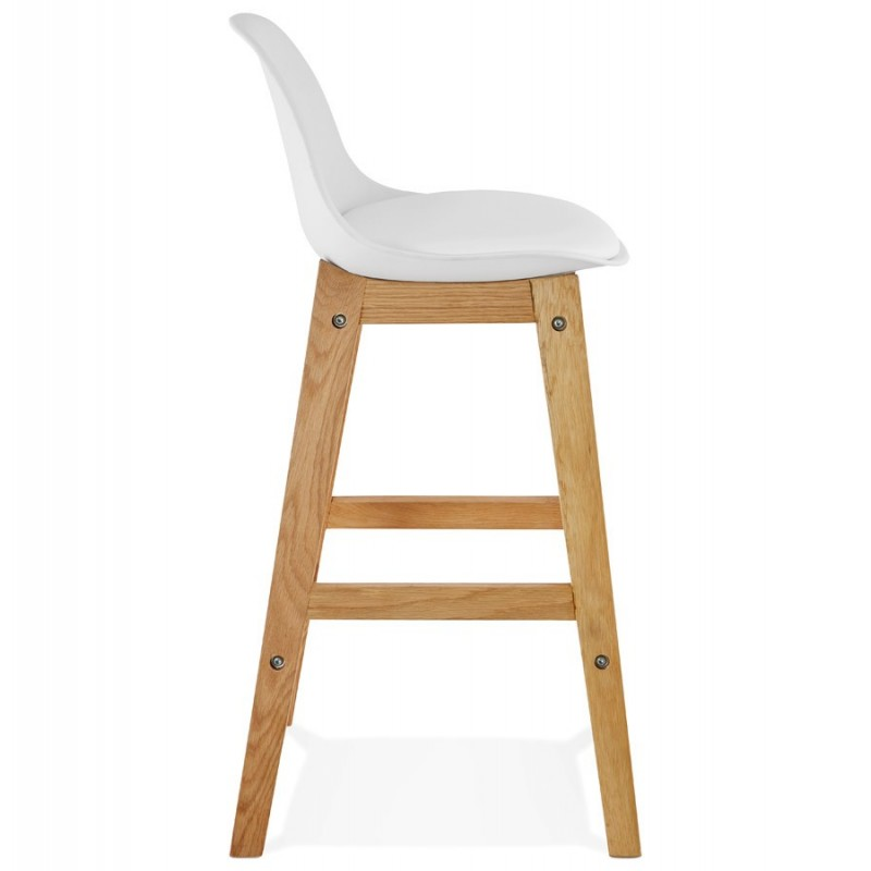 tabouret de bar scandinave rita 87cm blanc. Black Bedroom Furniture Sets. Home Design Ideas