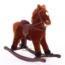 "Cheval à Bascule Enfant ""Selle"" 73cm Marron"