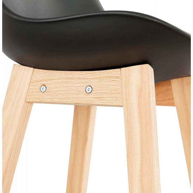 tabouret de bar scandinave elise 102cm noir. Black Bedroom Furniture Sets. Home Design Ideas