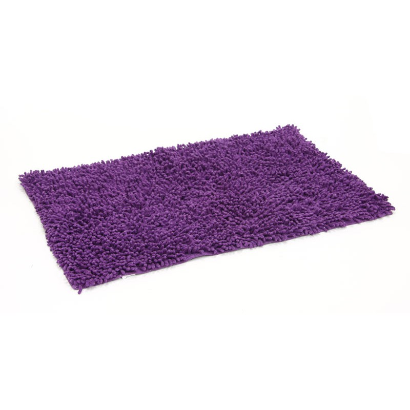 tapis de salle de bain 50x80cm violet. Black Bedroom Furniture Sets. Home Design Ideas