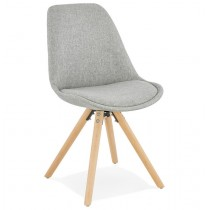 "Chaise Scandinave ""Yolanda"" 82cm Gris & Naturel"
