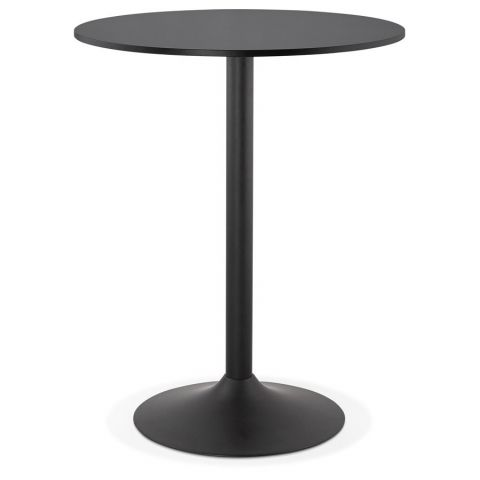 "Table de Bar ""Maracay"" 90cm Noir"