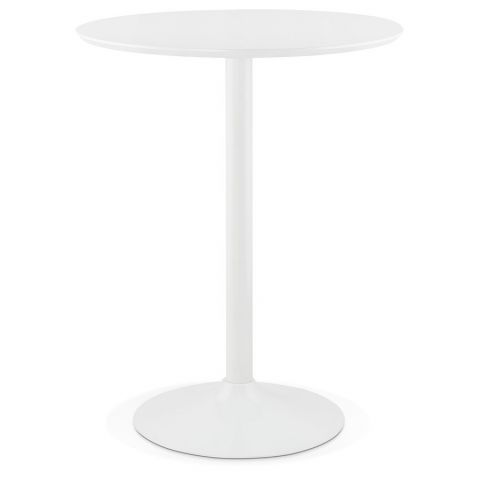 "Table de Bar ""Alysson"" 90cm Blanc"