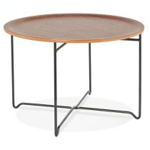 "Table Basse ""Nesos"" 60cm Naturel & Noir"