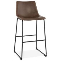 "Tabouret de Bar Vintage ""Cow-Boy"" 98cm Marron"