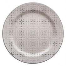 "Lot de 6 Assiettes Plates ""Analisa"" 27cm Gris"