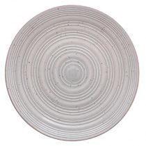 "Lot de 6 Assiettes Plates ""Natural"" 28cm Gris"
