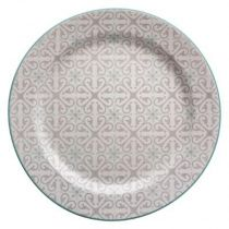 "Lot de 6 Assiettes Plates ""Analisa"" 27cm Taupe"