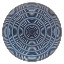 "Lot de 6 Assiettes Plates ""Natural"" 28cm Bleu"