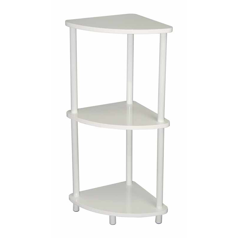Etag re d 39 angle verny blanc for Etagere d angle salon