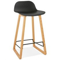 "Tabouret de Bar Design ""Toki"" 87cm Noir & Naturel"