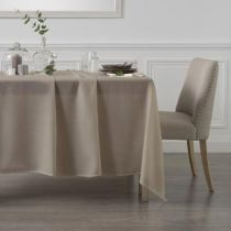 """Nappe Rectangulaire """"Pois""""' 140x240cm Taupe"""