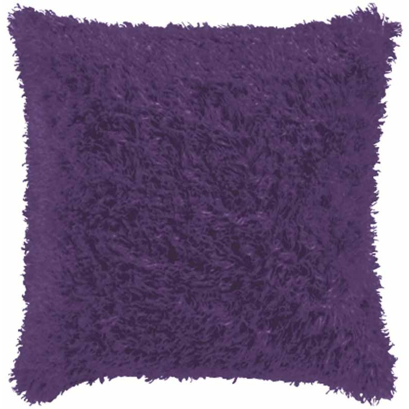 housse de coussin fourrure 40x40cm violet. Black Bedroom Furniture Sets. Home Design Ideas