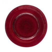 "Lot de 6 Assiettes Plates ""Jem"" 28cm Rouge"